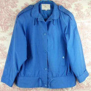 Mulberry Street Jacket Size M Lined Royal Blue